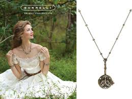necklace wedding dress images Vintage inspired ivory lace wedding dress and antique bridal necklace jpg