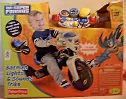 fisher price lights and sounds trike fisher price dc super friends batman lights sounds trike new
