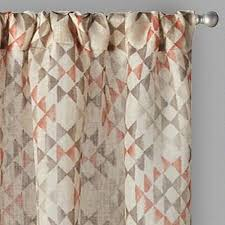 Patterned Window Curtains Tuscany Coral Patterned Window Curtains Set Of 2 Tree
