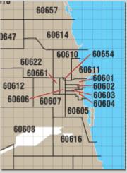 chicago zip code map chicago zip code extension