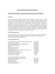 document retention policy template 4 free templates in pdf word