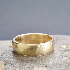 handmade wedding rings handmade gold lightly hammered wedding ring by muriel