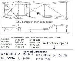 1968 camaro specs jig measurements team camaro tech