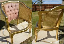 Refinishing Cane Back Chairs Gold Cane Chair Two Thirty Five Designs