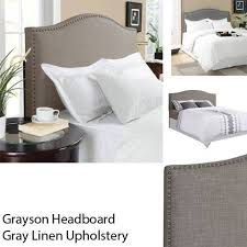 better homes and gardens grayson full queen linen upholstered