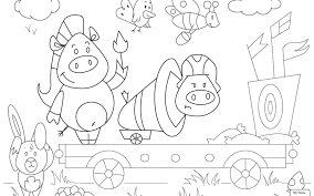 Amusement Circus Tent Coloring Page Free Pages Printable And Circus Coloring Page