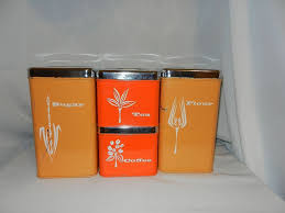 vintage lincoln beautyware canister set canister u0026 spice sets