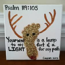 christmas footprint with bible verse can u0027t use the reindeer but