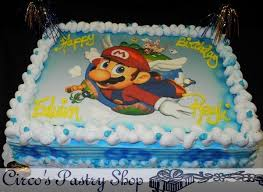 mario birthday cake italian bakery fondant wedding cakes pastries and