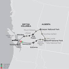 Canada National Parks Map by Western Canada Tours Cosmos Affordable Travel