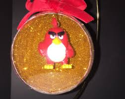 angry birds ornament etsy