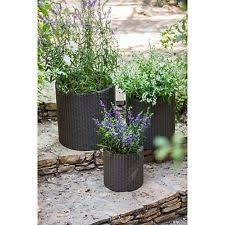 outdoor plant containers metal pot set patio garden flowers yard