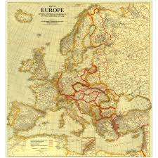 Map Of Europe 1939 by 1921 Europe Map National Geographic Store