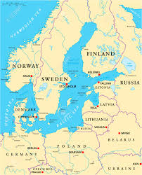 World Map With Lakes by Baltic Sea Area Political Map With Capitals National Borders