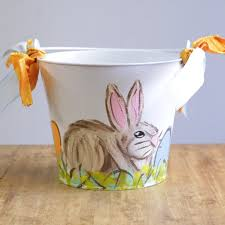 easter pail painted boy rabbit easter pail ms made foods gifts and
