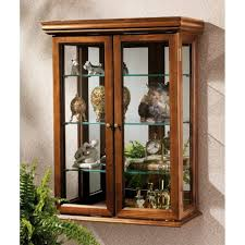 Golden Oak Kitchen Cabinets Curio Cabinet Oak Wall Curio Display Cabinetwall Mounted Cabinet
