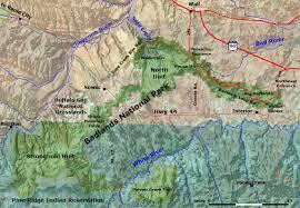 badlands national park map geology of national parks