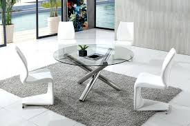 all glass dining table round glass dining table set lesgavroches co