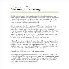 Sample Wedding Programs Outline 19 Wedding Ceremony Templates U2013 Free Sample Example Format