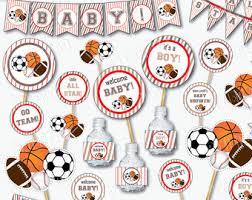 sports baby shower decorations sports baby shower etsy