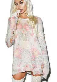 wildfox couture florals venice canal sweater dolls kill