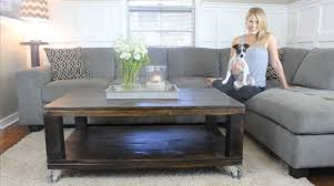 how to build a rustic coffee table diy project cut the wood