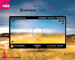 Business Card Template Online Photographer Transparent Business Card Freedownloadpsd Com