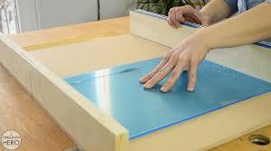Diy Led Desk L Curved Wood And Acrylic Led Desk L With Concrete Base Bending