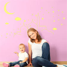 2016 luminous moon castle removable waterproof fluorescent wall 2016 luminous moon castle removable waterproof fluorescent wall stickers bedroom ceiling decoration for children room decoration