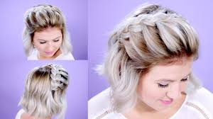 step by step braid short hair how to french braid short hair tutorial milabu youtube