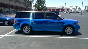 chrome blue maserati ford flex blue chrome u2014 incognito wraps