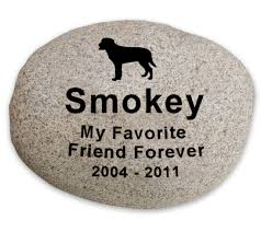 pet memorial river rock stone garden marker engraved x large