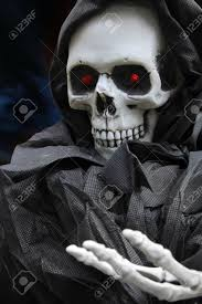 Halloween Skeleton Grim Reaper Scary Halloween Skeleton Stock Photo Picture And