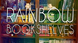 how to create a rainbow bookshelf youtube