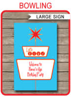 Bowling Party Decorations Party Decorations Printable Templates Diy Birthday Party