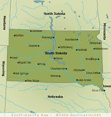 south dakota map with cities south dakota state map map of south dakota