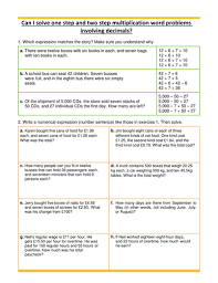 multiplication word problems decimals year 5 by hazelybell