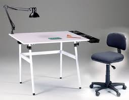 White Drafting Table Berkley Classic White Base Drawing Table W Desk Height Chair L