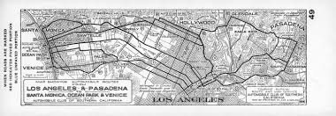 Map Of Santa Monica File Map Showing Automobile Routes From Los Angeles And Pasadena
