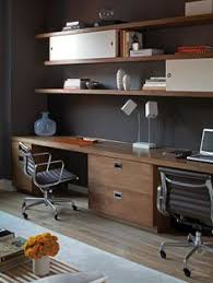 Office Desk Shelves 30 Shared Home Office Ideas That Are Functional And Beautiful