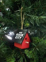see rock city small wooden birdhouse ornament