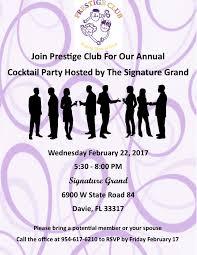 prestige club annual cocktail party prestigeclub