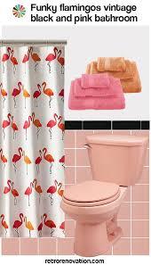 Pink Flamingo Bathroom Accessories by 16 Designs To Decorate A Pink And Black Bathroom Retro Renovation