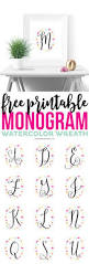 free printable watercolor monogram wreaths printable crush