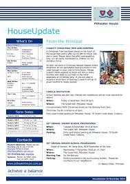 Where To Put A Christmas by 161123houseupdate By Pittwaterhouseschool Issuu