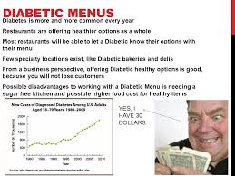 menu for diabetic with diabetes ppt