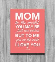 christmas gifts for mothers mothers day gift sale to me you are the world personalized