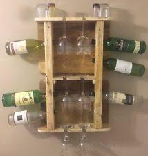 wooden wall mounted wine racks u0026 bottle holders ebay