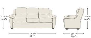 Couch Size Romsey 3 Seater Sofa From Sofas By Saxon Uk