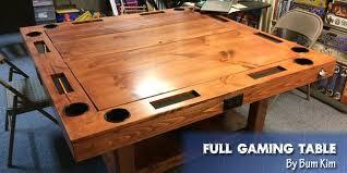 geek chic gaming table coolest diy gaming tables webb pickersgill